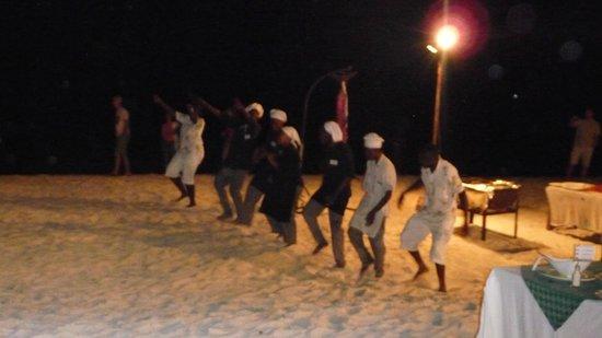 Royal Zanzibar Beach Resort: cena in spiaggia