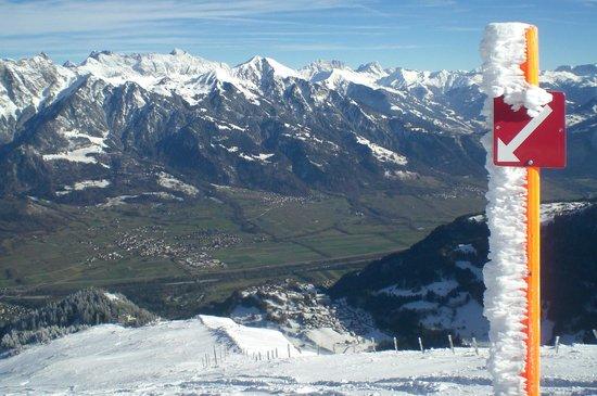 Pizol Ski Resort : herrlicher Blick ins Rheintal
