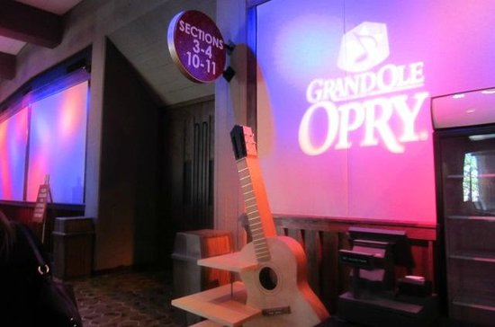 The Grand Ole Opry: When you first come in