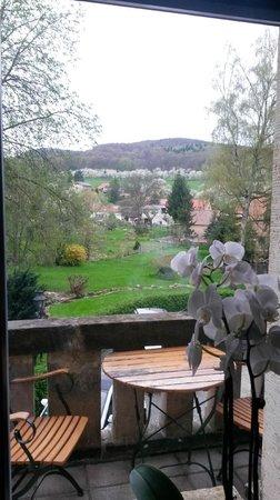 Schloss Stecklenberg: Aussicht Speisesaal