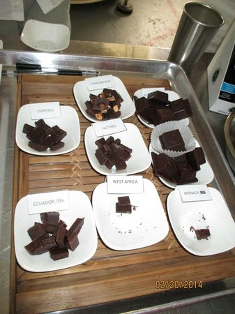 Agapey Chocolate Factory : Dark chocolate varieties to taste