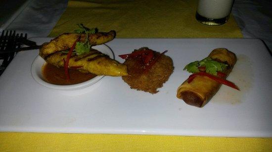 Peace Resort: In beach front restaurant, die vorspeisenvariation