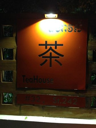 TeaHouse: Welcome sign