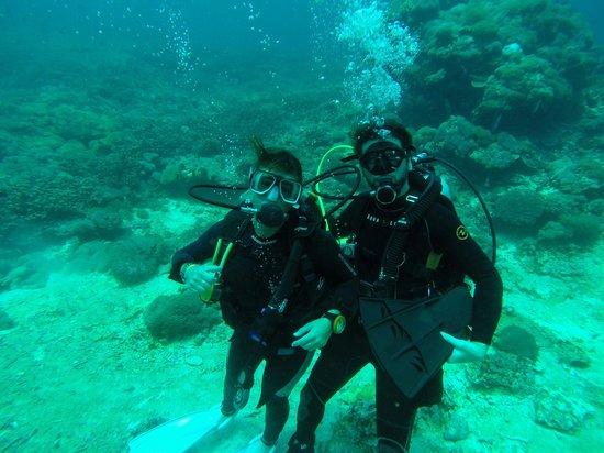 Bali Diving Academy Lembongan: Geoff and I