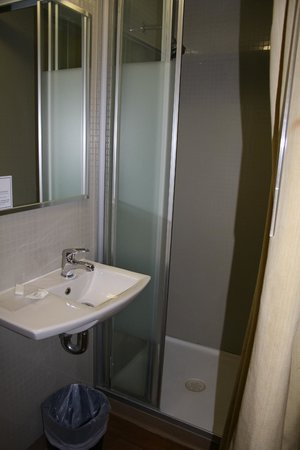 Ibis Budget Sydney Olympic Park Hotel: shower and basin area