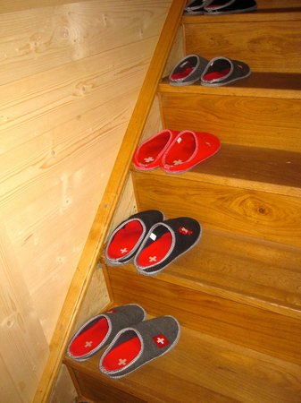 La ferme du bourgoz : remove shoes...slips provided