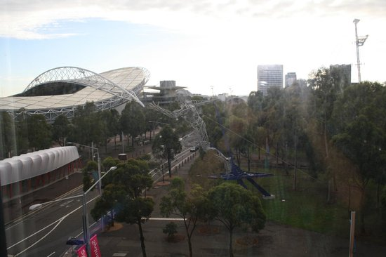 Ibis Budget Sydney Olympic Park Hotel: view from outside the window