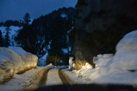 Banjara Retreat & Cottage - Sojha : Way to Sojha from Jalori Pass.