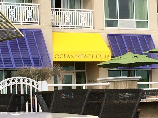 Ocean Beach Club: Facade from the Boardwalk