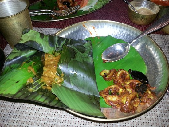 Vivanta by Taj - President, Mumbai : Squid with kokkum and fish polichettu.... yummy!!!