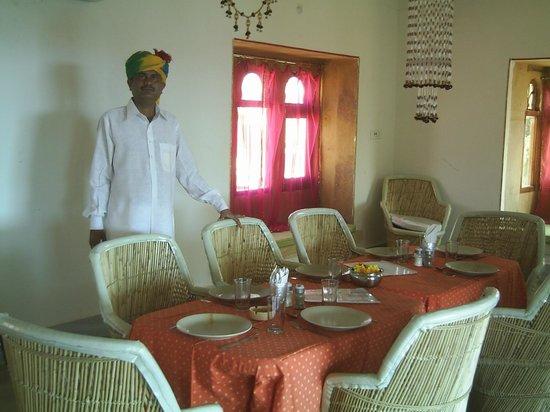 Hotel Jaisalmer Palace : Dinner in the Maharani restaurant
