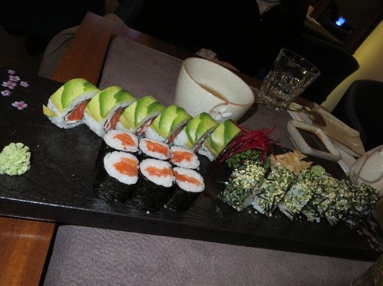 Club Sushi from Tokyo to Seoul: rolls