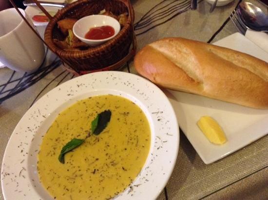 M Bistro: pumpkin soup