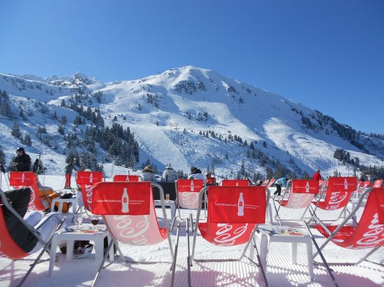 View from the deckchairs at Le Bouc Blanc