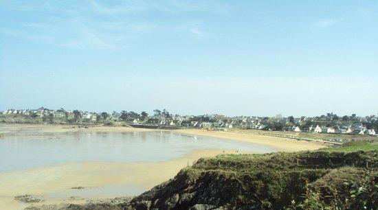 Residence Ker Mael : La plage en face de la résidence