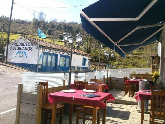 Tazones, Spain: Terraza