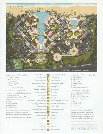 The Westin Lagunamar Ocean Resort Villas & Spa: Westin Lagunamar Resort Map