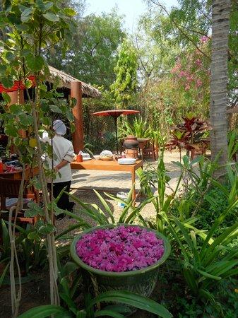 Blue Bird Hotel: Breakfast garden