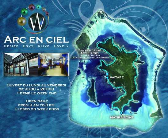 Arc En Ciel Bora-Bora : Where to find us ?  Or just call us 71 98 89