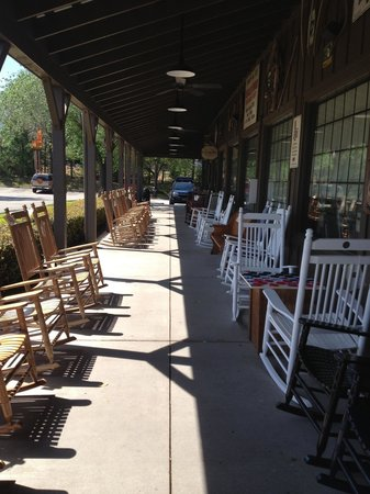Rocking Chairs Picture Of Cracker Barrel Conroe Tripadvisor