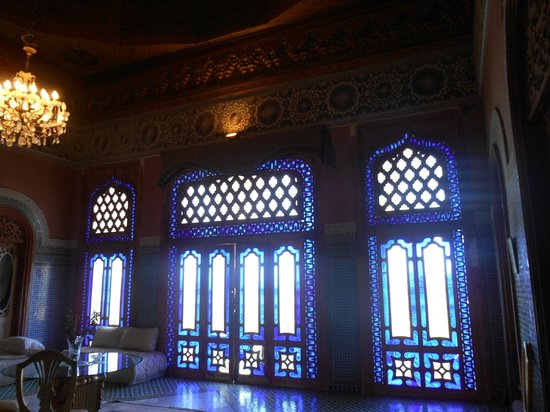 Palais El Mokri : L'un des salons : le salon bleu