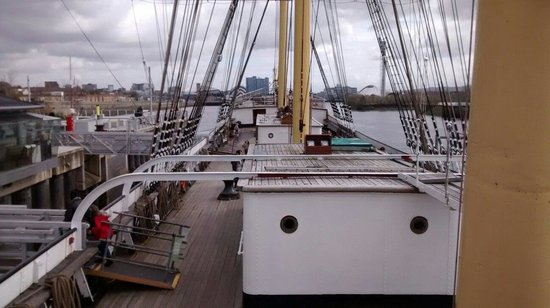 The Tall Ship at Riverside: On deck