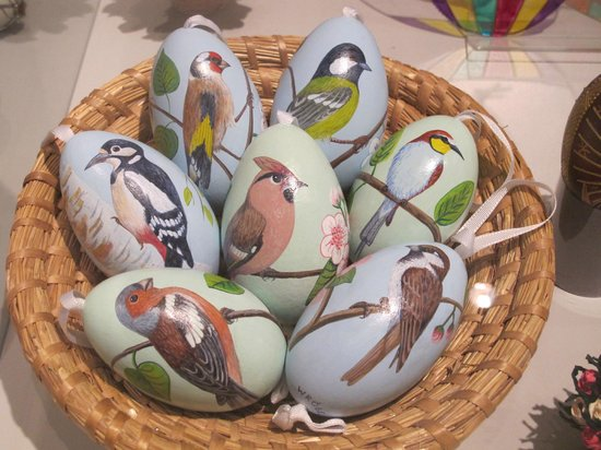 Ethnographic Museum: Painted Easter eggs on temporary display