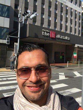 the b akasaka : Me at the hotel