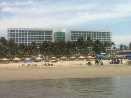 The Grand Mayan Acapulco : View from the beach