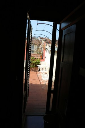 Porta Faenza: view from the room to the balcony