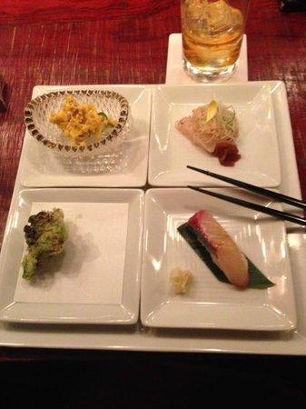 Matsugenebisu: first course