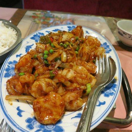 China-Restaurant Golden: Garnelen mit Chili-Sauce
