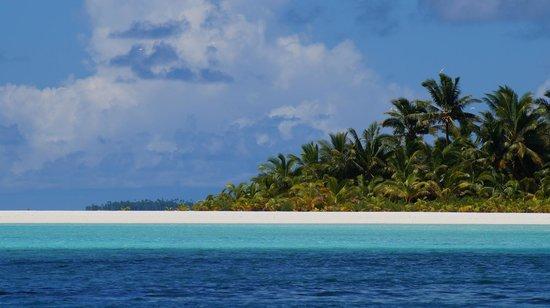 Kiteboard Aitutaki : island view