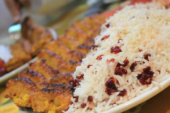 Caesars : Rice with kabab