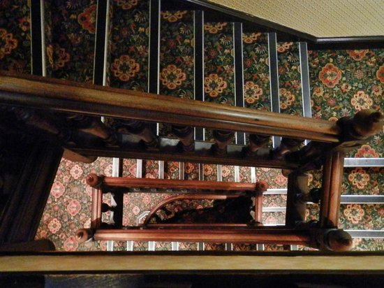 Crewe Hall: Looking down the stairs