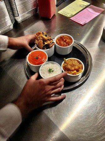 Gulistan House Thali Food Prep
