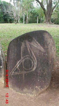 Parque Ceremonial Indigena de Caguana : Bird Petroglyph