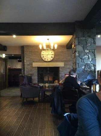 The Old Mill Inn: log fire @ old mill
