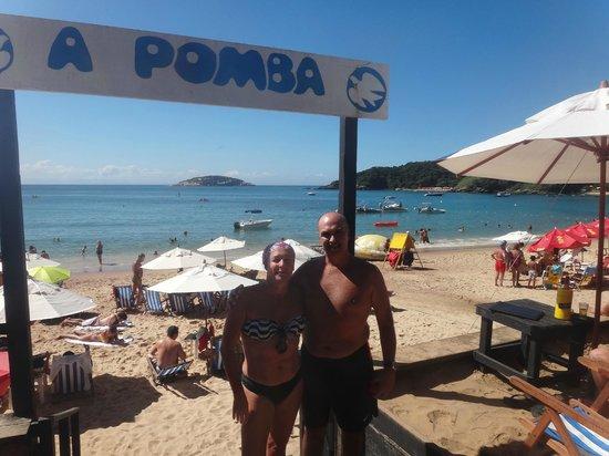 Rio Buzios Beach Hotel: ENTRADA AL BALNEARIO   A POMBA