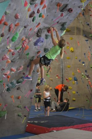 Triangle Rock Club - Morrisville : My 9 year old on the boulder