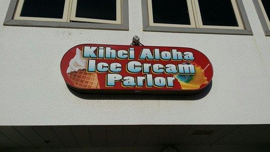 Kihei Aloha Ice Cream & Yogurt: Outside sign