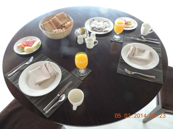 The Kunja Villas & Spa : Breakfast