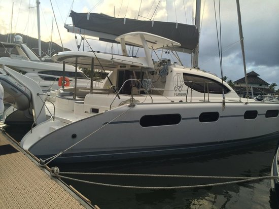St Martin Catamarans Charters: Beautiful Flagship II