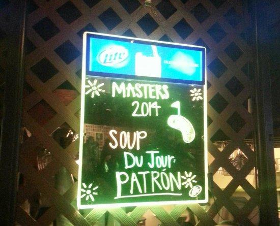 T Bonz Steakhouse of Augusta: Soup du Jour!!