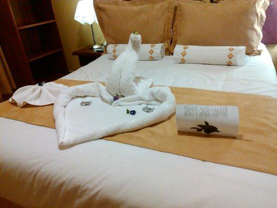 Imperio Machupicchu Hotel: Decoração especial lua de mel