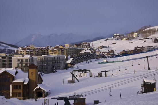 San Moritz Condominiums: View from the San Moritz toward Crested Butte Mountain