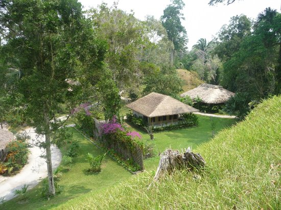 Chan Chich Lodge: View from the hill ( under is Maya ruin)