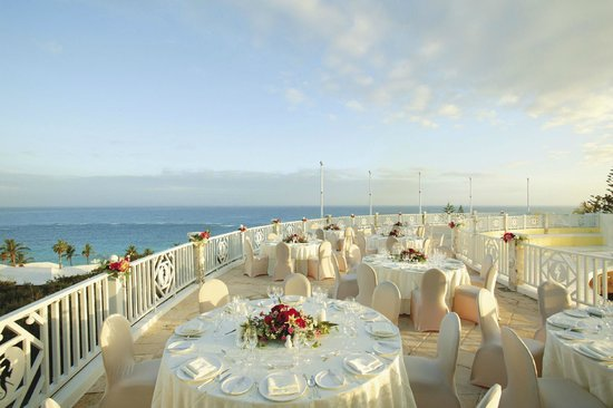 Elbow Beach, Bermuda: Wedding on Pool Terrace