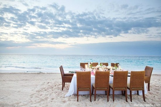Elbow Beach, Bermuda: Beach Wedding Dinner Setting