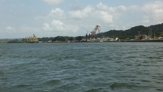 Panama Canal Boat Eco Tour: Drilling for Expansion of Canal